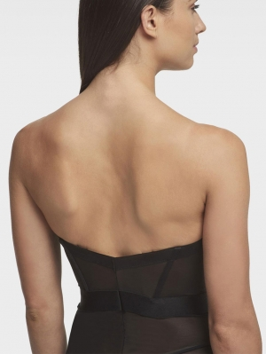 Sheers Strapless Bodysuit