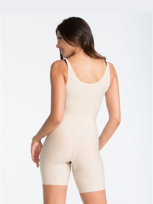Thinstincts Open-Bust Mid-Thigh Bodysuit