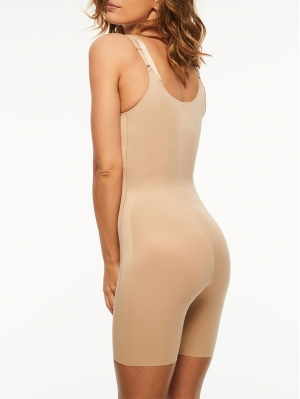 Basic Shaping Open Bust Mid-Thigh Bodysuit