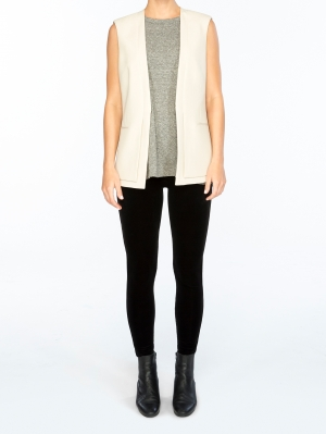 Structured Velvet Leggings