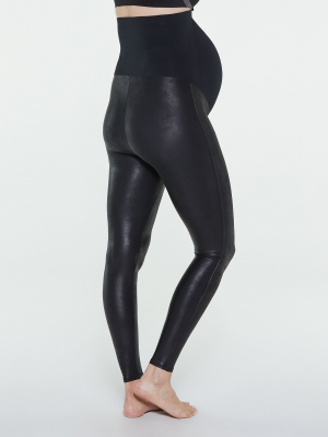 Mama Faux Leather Legging
